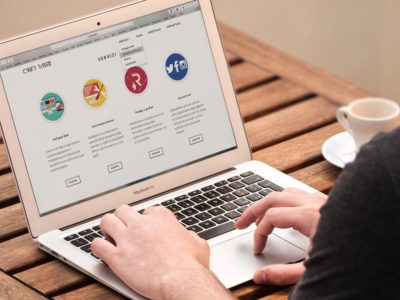 Arbeit an Inhalten der Webseite