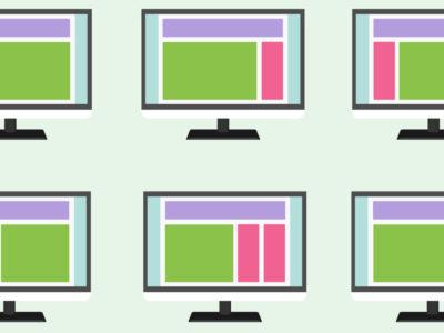 Verschiedene Webseiten Layouts