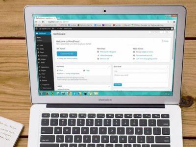 Verwaltungsbereich einer Webseite