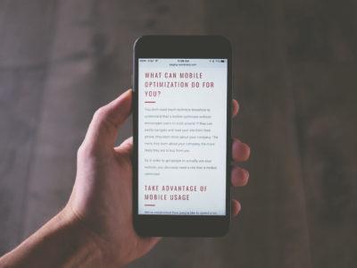 Webseite fürs Handy optimieren